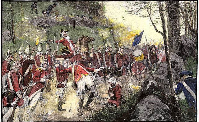 british-army-retreating-from-battle-of-concord-under-fire-from-colonial-ac2gfb